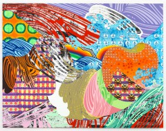 Christine Streuli: Liegende_02, 2014, Monica De Cardenas Gallery, Milan / Italy
